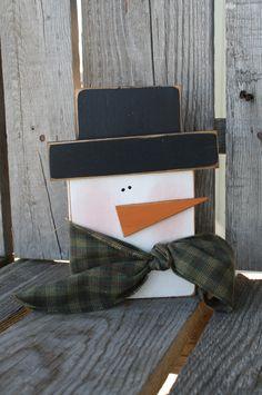 Primitive Snowman winter christmas seasonal snowman snowmen gift home decor. $14.95, via Etsy.