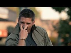Supernatural-Eye of the tiger ^^ OMG! I love him! The camera guys are laughing in the background