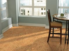 Cork floor - Warm to a natural miracle Guest Bedrooms, Grey Flooring, House, Timber Flooring, New Homes, Flooring, Refinishing Floors, Cork Flooring, Osb