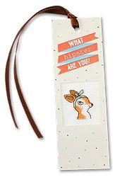 N-42 Que Hipster eres tu? Kit de Marcapagina con punto de cruz! Tienda online de manualidades: www.make-it-es.com