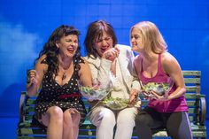 Kimberly Gilbert, Janet Ulrich Brooks, and Meghan Reardon, laughing together with salad. Photo by Scott Suchman.