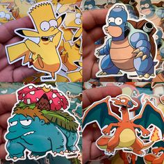Simpsons Pokemon Trading Cards, Pins & Stickers http://geekxgirls.com/article.php?ID=7926
