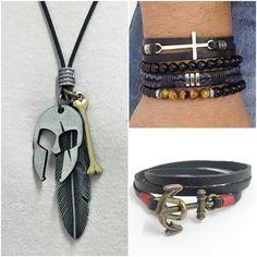 Pulseiras masculinas mens bracelets necklace colar masculino