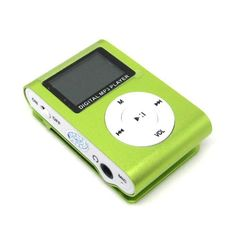 4GB ALANTEX GREEN MP3 USB ATLANTIC CLIP LCD SCREEN MP3 PLAYER CLIP FM RADIO