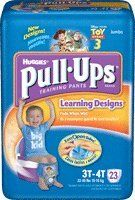 Pull-Ups Boys Training Pants, 3T/4T by Kimberly-Clark. $34.46. (SOLD BY PACKAGE 23/EA) Pull-Ups Boys Training Pants, 3T/4T. Disposable training pants pull on like underwear, with increased absorbency to protect like a diaper. Cloth-like outer cover, tear-away resealable side seams, elasticized waist and leg, and leak guards. Designs feature Disney® characters. Boys, 3T - 4T. Brand: Kimberly Clark. Save 16%!