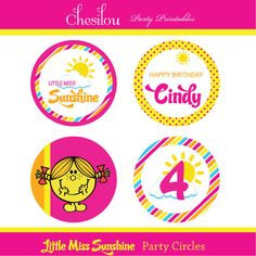 Customized Little Miss Sunshine Digital Printable by Chesilou