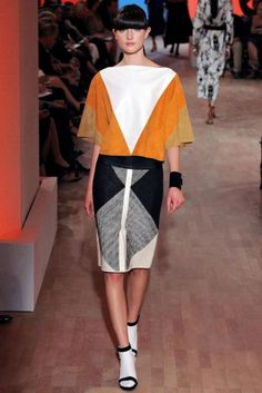 Hermes Spring Summer 2012 #Hermes --> I like the way the geometry gives the effect of playing with proportion.