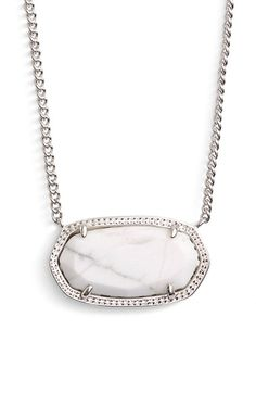 Kendra Scott 'Dylan' Stone Pendant Necklace available at #Nordstrom - I like the coral one or the black one