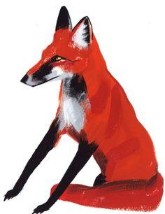red fox print  etsy - pingshop