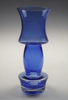via Etsy. Blue Glass Vase, Glass Art, Glass Design, Design Art, Blue Velvet, My Favorite Color, Cobalt Blue, Modern Contemporary, Blues