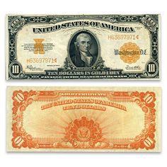 1922 $10 Gold Certificate - Hillegas Note Currency Money Template, Patriotic Pictures, Money Notes, Horse Blanket, Old Money, Notes Design, Gold Bullion, Old Coins, Historical Pictures