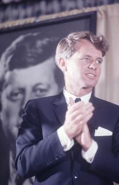 """Robert Francis Kennedy (November 20, 1925 – June 6, 1968), commonly known as """"Bobby"""" or by his initials RFK, was an American politician, who served as a Senator for New York from 1965 until his assassination in 1968. He was previously the 64th U.S. Attorney General from 1961 to 1964.✿❤✿❤✿❤✿  http://en.wikipedia.org/wiki/Robert_F._Kennedy"""