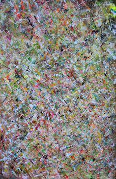 'Abundance' 130 x 200 cm Scraping technique & mixed media