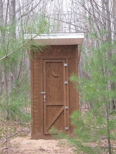 Outhouse on a camping trip