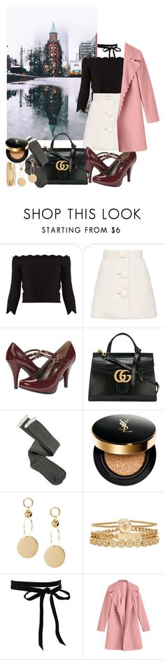 """""""Untitled #482"""" by danielagreg ❤ liked on Polyvore featuring Alexander McQueen, Gabriella Rocha, Gucci, Charlotte Russe, Yves Saint Laurent and Treasure & Bond"""