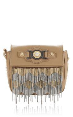 VERSACE - Fringe Embroidered Handbag