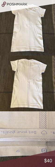 Lululemon Short Sleeve Swiftly VGUC, no flaws. A very very light lavender color -- perfect for spring! Bundle to save or I see for less via 🅿️🅿️! lululemon athletica Tops Tees - Short Sleeve