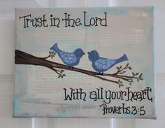 Proverbs 3:5 with blue birds