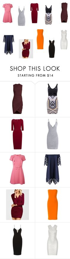 """""""Sans titre #1804"""" by tronchehilarion ❤ liked on Polyvore featuring Alexander Wang, Roland Mouret, RED Valentino, Victoria Beckham and Hervé Léger"""