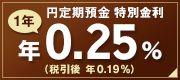 円定期預金特別金利