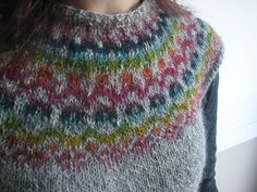 Handspun, handknitted Gotland wool vest.