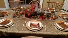 Thanksgiving tabelscape cornucopia fall table pumpkin chandelier love