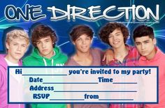 Free Printable One Direction Invitations – InviteTown