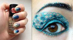 Sailor Neptun inspired make up & nail art by http://shades-of-fashion.blogspot.de/2013/03/amu-make-up-dreams-runde-9-sailor-neptun.html