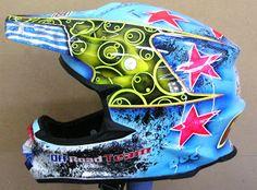 Shoei Motocross Custom Painted Helmet #154 ~ Hand Painted Helmets - Design your helmet today..!!