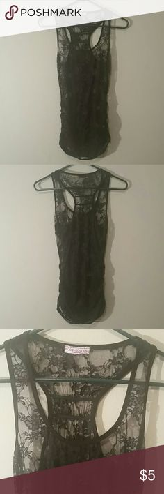 Sexy lace racer back tank EUC.  Worn once,  no blemishes.  Super cute for fall layering! Body Central Tops Tank Tops