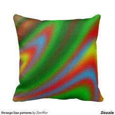 Strange line patterm pillow