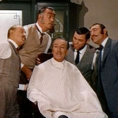 "For the ""Gallegher"" lead-in, Walt was serenaded by the Mellomen (Max Smith, Disney Legend Thurl Ravenscroft, Bob Stevens, Bill Lee) as they harmonized the ""Gallegher"" theme song on the set of a 1890s barbershop. Walt's active involvement in the elaborate introductions demonstrated his avid interest in ""Gallegher"" as well as affection for the Sherman Brothers' song, all about Gallegher ""nosing around for news."""