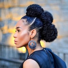 STYLECASTER | Protective Hairstyles to Try | Bun Mohawk