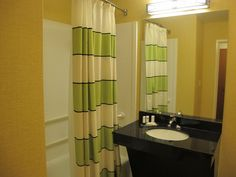 yellow and gray bathroom ideas | Awesome grey shower curtain 2012 | Curtain Shops - grey shower curtain ...