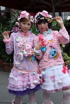 Her name is Senon, and her style is in the Fairy Kei / Decora genre which some people associate with the famous Japanese street fashion magazine FRUiTS. Description from pinterest.com. I searched for this on bing.com/images