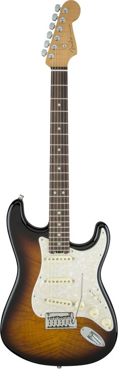 Externally the Limited Edition American Elite Stratocaster Sunburst has Fender's timeless style, but under the hood it's an entirely new breed of guitar designed for players who c Fender American, Home Studio Music, Fender Stratocaster, Guitar Design, 2 Colours, Timeless Fashion, Mystic, Electric Guitars, 21st Century