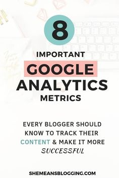 Do you use Google analytics tool? Use this 8 most important google analytics metrics to track your blog performance, and make every piece of content successful! Figure out what's working best on your blog with must-follow Google analytics metrics and get amazing results #blogging #bloggingtips #seo Marketing Digital, Online Marketing, Content Marketing, Media Marketing, Marketing Ideas, Tips & Tricks, Seo Tips, Content Words, Seo For Beginners