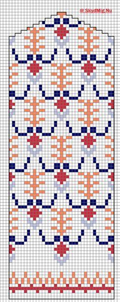 Latvian Mitten, knitting, free pattern