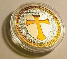 Yellow Collectible Cross Coin FAST SHIPPING!!!!