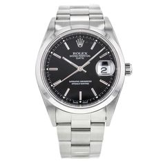 Rolex Oyster Perpetual Date 15200 Black Dial 34mm #Rolex #LuxurySportStyles