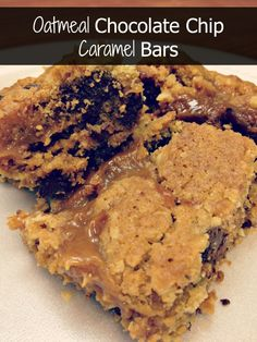 Oatmeal Chocolate Chip Caramel Bars