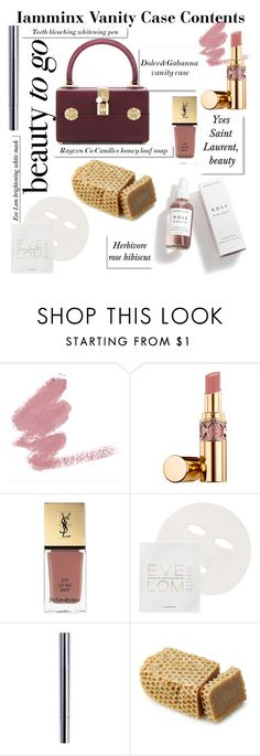 """""""Untitled #194"""" by iamminx ❤ liked on Polyvore featuring beauty, Yves Saint Laurent, Eve Lom, White Label and Dolce&Gabbana"""