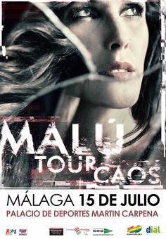 MALÚ VOLVERÁ A MÁLAGA EL 15 DE JULIO, ACTUANDO EN EL PALACIO DE DEPORTES MARTIN CARPENA