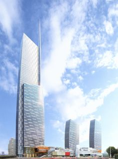 Riverview Plaza tower and mall in Wuhan by Pelli Clarke Pelli
