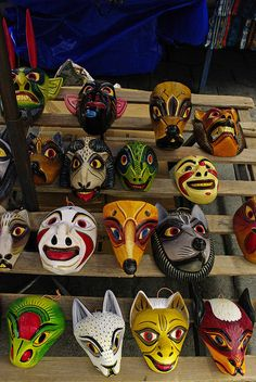 wolf masks in ecuador Masks Art, Clay Masks, Mexican Mask, Paper Mache Mask, Wolf Mask, Equador, 3d Studio, African Masks, Art Plastique