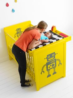Cosatto Cot Bed, Changer & Drawer - My Robot