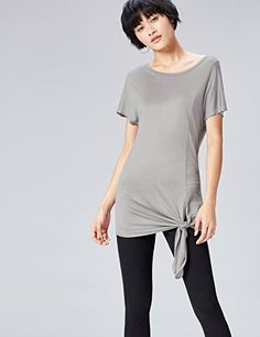 FIND Women's Tie Front Jersey Top: Amazon.co.uk: Clothing