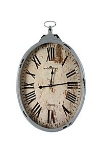 For that easy relaxed feeling that comes with Spring, a shabby chic HANGING OVAL CLOCK is perfect to watch the hours pass by while you laze around on a beautiful sunny day.
