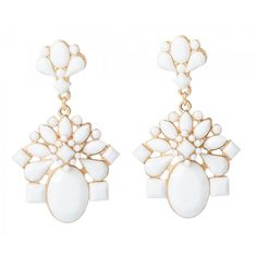Floral Acrylic Drop Earrings in #White / #Gold - 28630 - from @colettehayman (AUD $7.46 were AUD $9.95).