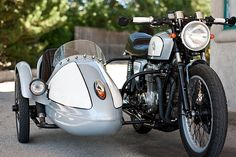 1978 Honda CB550 K and Sidecar, custom build by Tony Prust of Illinois-based Analog Motorcycles